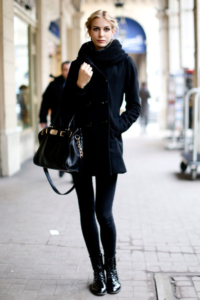All Black High Fashion In Low Temps Street Style