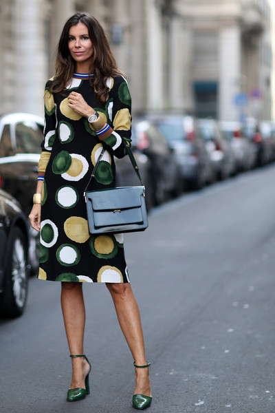Circle Sheath Best Street Style At Milan Fashion Week