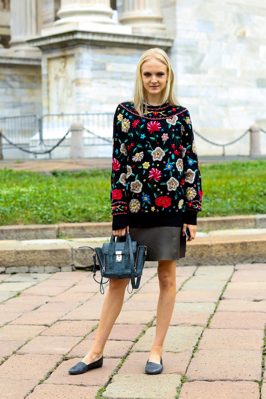 Bold Florals Best Street Style At Milan Fashion Week