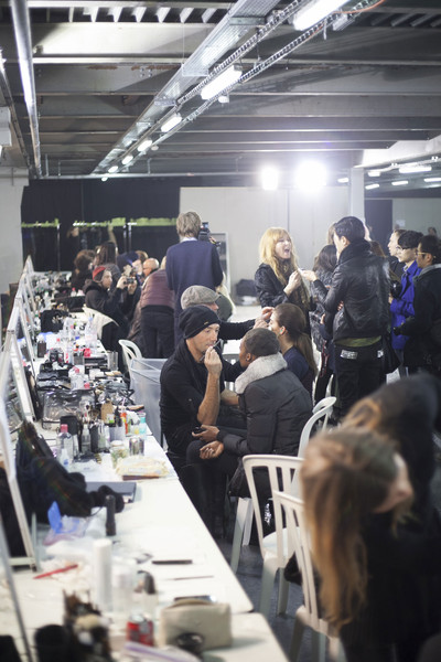 Thierry Mugler at Paris Fall 2013 (Backstage)