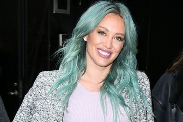 Hilary Duff Kissed Her Blue Hair Goodbye