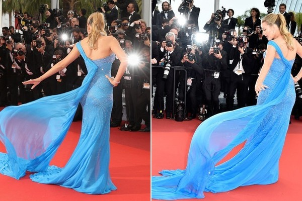 Blake Lively in Atelier Versace at the 2016 Cannes Film Festival