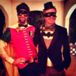 Jesse Tyler Ferguson and Justin Mikita as Batman and Robin