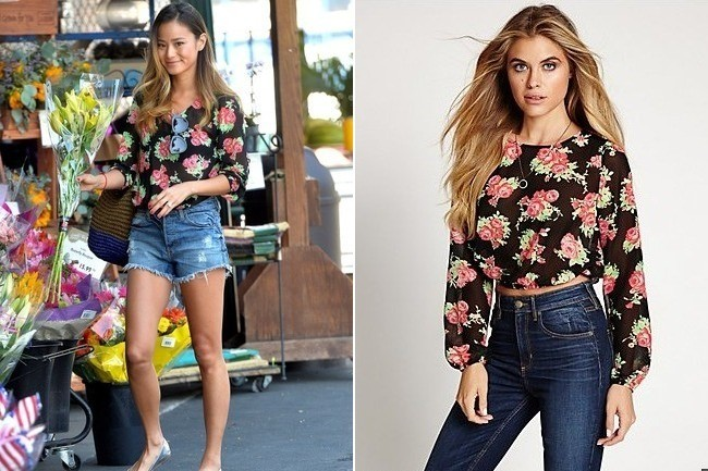 Jamie Chung's Floral Top