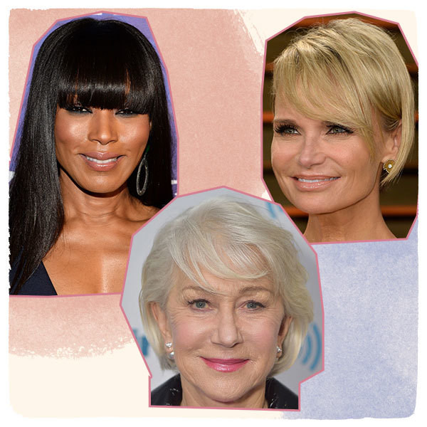 The Prettiest Hairstyles For Older Women With Bangs
