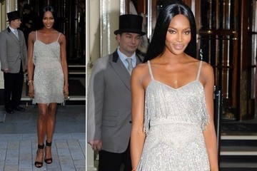Naomi Campbell's Kate Moss-Designed Flapper Dress