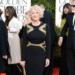 Helen Mirren Wears Badgley Mischka at the 2013 Golden Globes