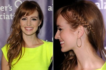 Simple Hair Idea To Try: Ahna O'Reilly's Peekaboo Side Braid