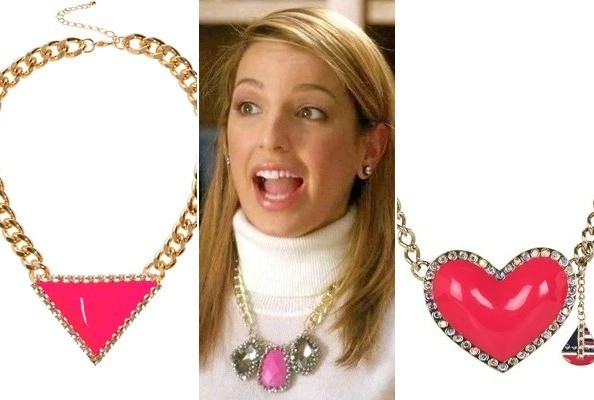 A Pink Rhinestone Necklace Like Heather Morris' on 'Glee'