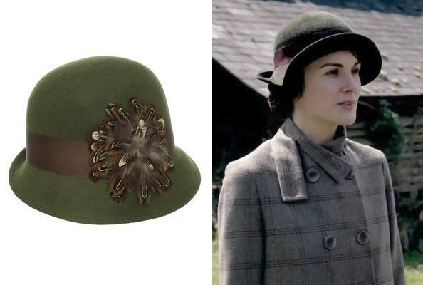 A Ribboned Green Hat Like Michelle Dockery's on 'Downton Abbey'