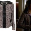 Lea Michele's Nubby Tweed Zip-Up Jacket on 'Glee'