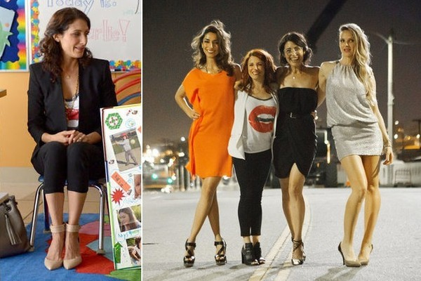 Seeing Double: Lisa Edelstein and Alanna Ubach Share the Same Tee on 'Girlfriends' Guide to Divorce'