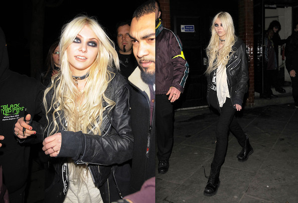 Taylor Momsen Succumbs to Cold, Wears Pants