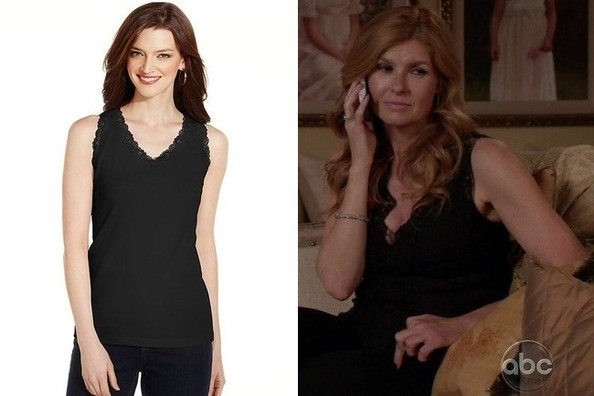 A Black Lace Sleeveless Top Like Connie Britton's on 'Nashville'