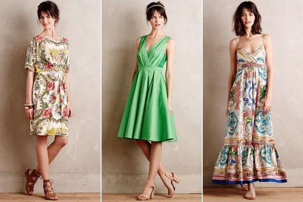 Collette Dinnigan Scenic Silk Dress, $228; Pleated Trellis Dress, $168; Acionna Silk Maxi Dress, $288