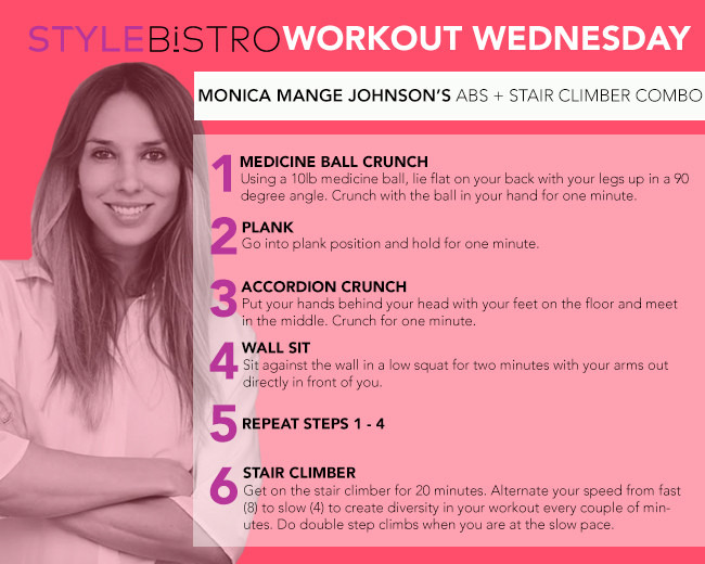Workout Wednesday: Monica Mange Johnson's Ab Crusher and Stair Climber Combo