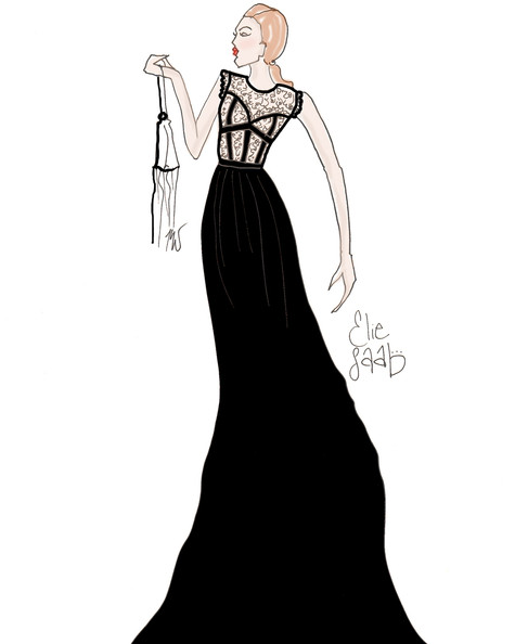 Elie Saab's Black Lace Dress