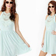 Nasty Gal's Baby Blue Crochet Dress
