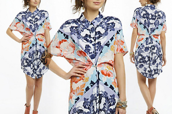 Maeve's Hibiscus Bloom Shirtdress