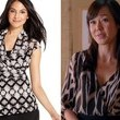 A Black and White Print Wrap Blouse Like Yunjin Kim's on 'Mistresses'
