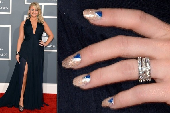 Miranda Lambert's Nail Art at the 2013 Grammy Awards