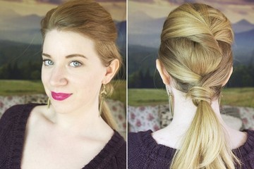 This Twisted Low Ponytail Only Looks Difficult