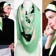 Jessica Pare's Mint Scarf on 'Mad Men'