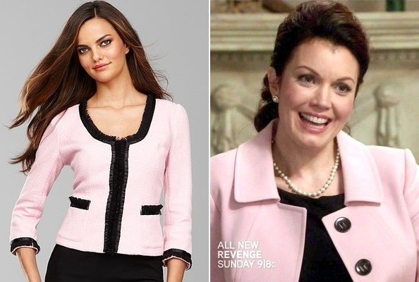 Bellamy Young's Pink Jacket on 'Scandal'