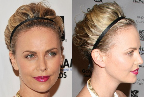 Charlize therons short hair updo do it yourself how to get charlize therons short hair updo solutioingenieria Choice Image