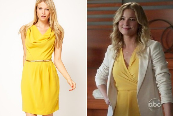 Emily VanCamp's Yellow Dress on 'Revenge'