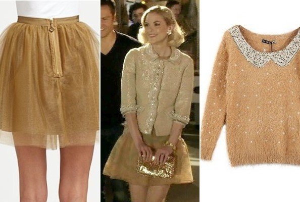 Jaime King's Gold Sequined Cardigan on 'Hart of Dixie' - TV ...