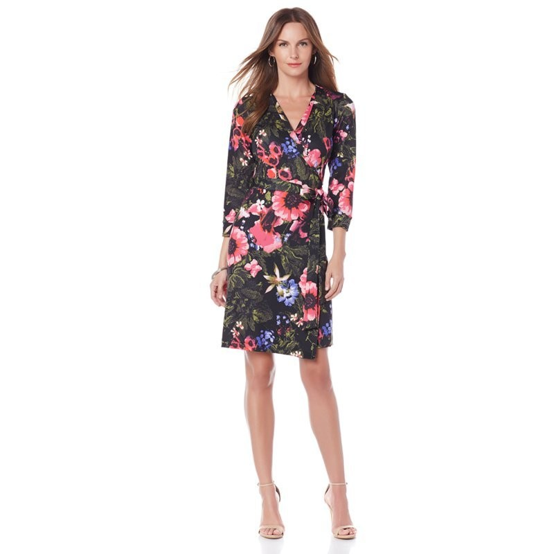 Wendy Williams Floral Print Fashion Wrap Dress, $50, at HSN