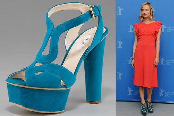 Diane Kruger Falls Head Over Heels for Prada Sandals