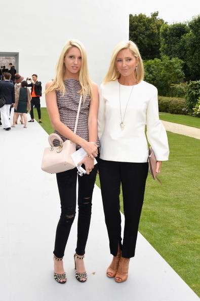 Princess Olympia and Crown Princess Marie Chantal of Greece