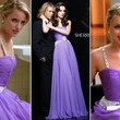 Dianna Agron's Lilac Beaded Dress on 'Glee'