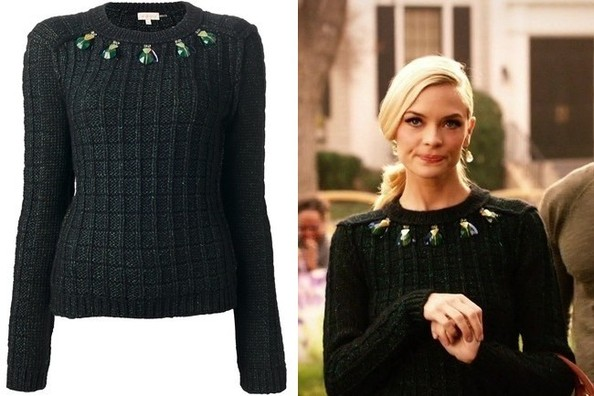 Jaime King's Embellished Knit Sweater on 'Hart of Dixie'