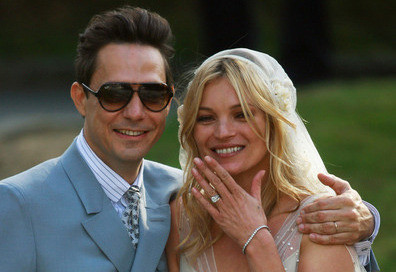 Kate Moss Wears Both John Galliano and Stella McCartney on Her Wedding Day