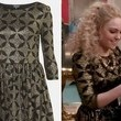 AnnaSophia Robb's Gold and Black Skater Dress on 'The Carrie Diaries'