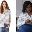 Mindy Kaling's Polka-Dot Silk Blouse on 'The Mindy Project'
