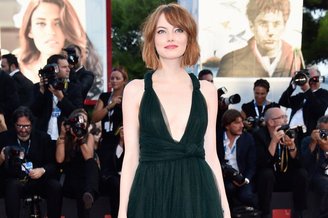 Emma Stone Birdman Premiere Red Carpet