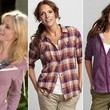 Julie Bowen's Layered Camp Shirt / Hoodie Look on 'Modern Family'