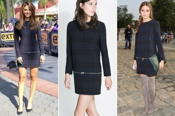 Who Wore Zara's Plaid Zip Dress Better: Maria Menounos or Olivia Palermo?