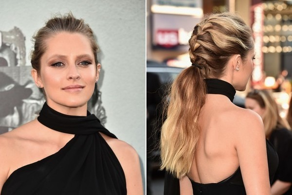 Teresa Palmer's French Braid