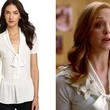 Jayma Mays' Pussybow Blouse on 'Glee'