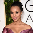 Kerry Washington's Windblown Updo and Feathered Lashes