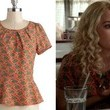 AnnaSophia Robb's Print Peplum Top on 'The Carrie Diaries'