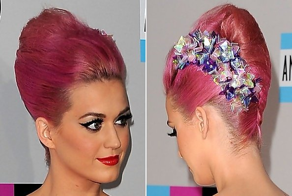 Katy Perry Hair Styles: Katy Perry's Fluffy French Twist