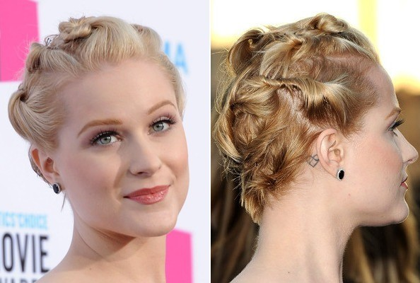 Evan Rachel Wood's Bobby-Pinned Twists