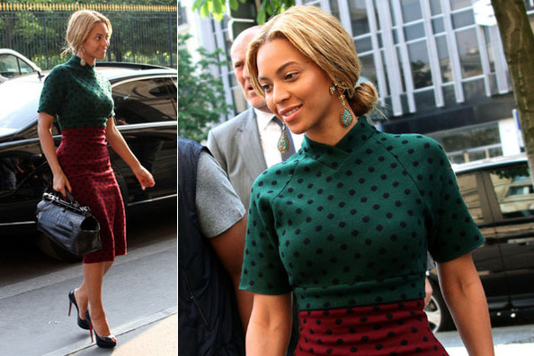 fashion daily: Look of the Day: Beyonce at Marc Jacobs