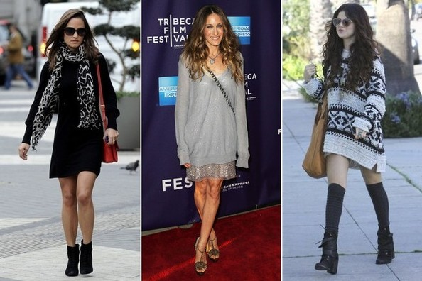 Celebrity Trend We Love: Cute and Cozy Sweater Dresses